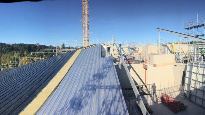 Montering av tak och solceller