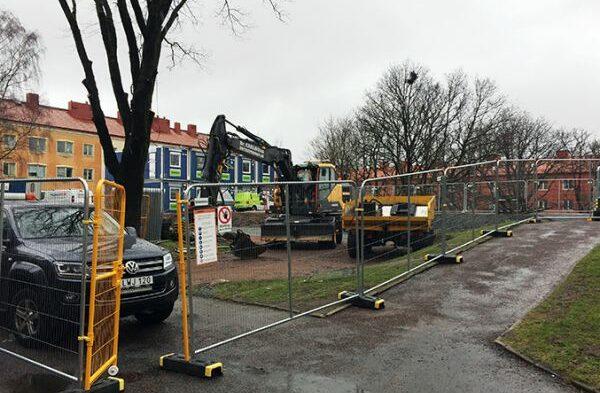 Bygget startat på Hogenskildsgatan